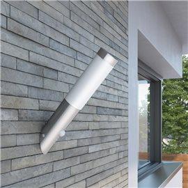 Aplique de exterior con sensor, resistente al agua, RVS