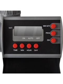 Programador de riego automático con una salida y pantalla digital
