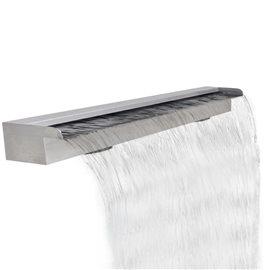 Fuente rectangular de acero inoxidable para piscina, 120 cm
