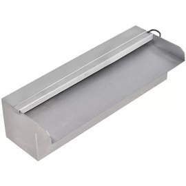 Fuente cascada rectangular LED piscina acero inoxidable 30 cm