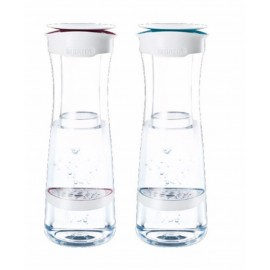 Botella Agua Purificadora 1,3Lt + 1Filtro Blanco/Azul Fill Serve Brita