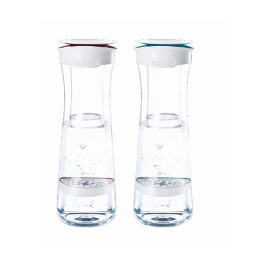 Botella Agua Purificadora 1,3Lt + 1Filtro Blanco/Rojo Fill Serve Brita