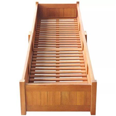Jardinera de madera de acacia 200x50x25 cm