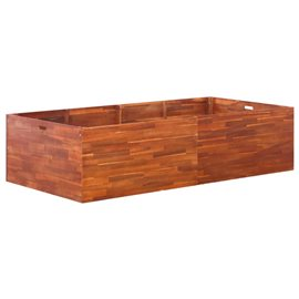 Jardinera de madera de acacia 200x100x50 cm