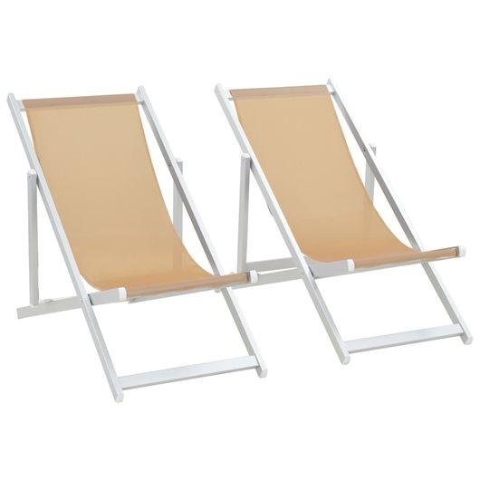silla playa aluminio y textileno