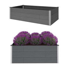 Jardinera de WPC gris 200x100x54 cm