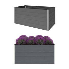 Jardinera de WPC gris 200x100x91 cm
