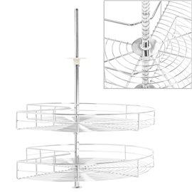 Bandeja para cocina alambre 2 niveles plateado 270 grados 70 cm