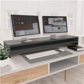 Soporte de mesa para pantalla de aglomerado gris 100x24x13 cm