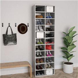 Mueble zapatero de aglomerado gris hormigón 54x34x183 cm