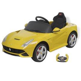 Coche correpasillos Ferrari F12 amarillo 6 V control remoto