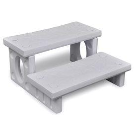 Mini-escalera blanca para el spa