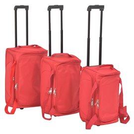 Juego de 3 maletas rojas