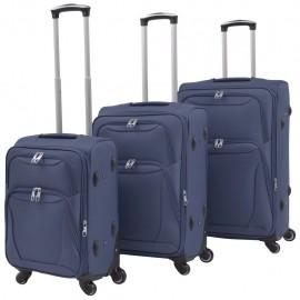 Juego de 3 maletas blandas azul marino