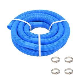 Manguera de piscina con abrazaderas azul 38 mm 6 m