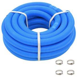 Manguera de piscina con abrazaderas azul 38 mm 12 m