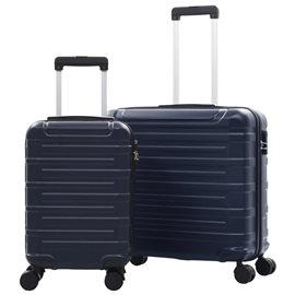 Juego de maletas trolley rígidas 2 piezas azul marino ABS