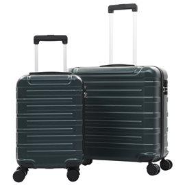 Juego de maletas trolley rígidas 2 piezas verde ABS