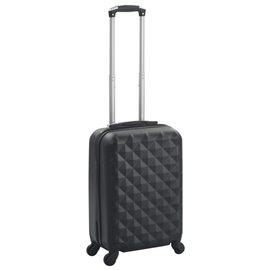 Maleta con ruedas trolley rígida negra ABS