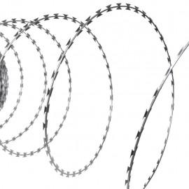 Alambre de concertina, rollo de 30 metros