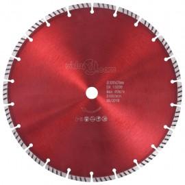 Disco de corte de diamante con turbo acero 300 mm
