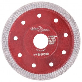 Disco de corte de diamante con agujeros acero 115 mm