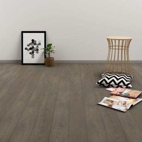 Lamas para suelo PVC autoadhesivas 4,46 m² 3 mm gris y marrón