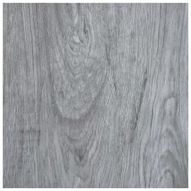 Lamas para suelo autoadhesivas PVC gris claro 5,11 m²