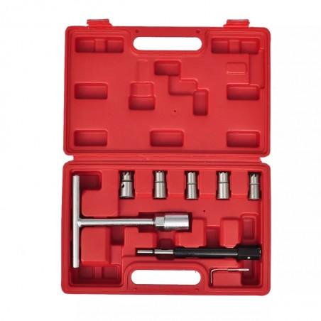 Set de cortadores de conjunto de inyector diesel 7 piezas