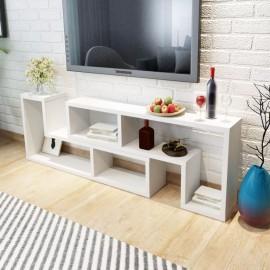 Mueble para TV blanca en forma de L