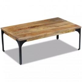Mesa de centro madera de mango 100x60x35 cm