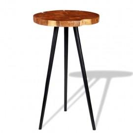 Mesa de bar de tronco madera maciza de acacia (55-60)x110 cm
