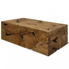 Mesa de centro 90x50x35 cm de madera de teca genuina marrón