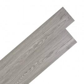 Lamas para suelo de PVC autoadhesivas 5,02m² 2mm gris oscuro