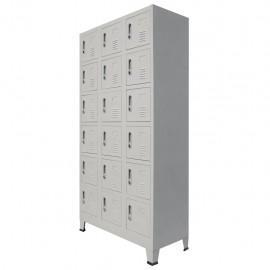 Armario taquilla de metal con 18 compartimentos 90x40x180 cm