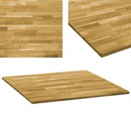 Tablero de mesa cuadrado madera maciza de roble 23 mm 70x70 cm