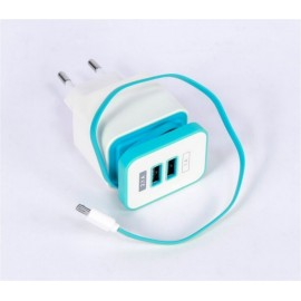 Cargador Multimedia Usb Doble Cable Micro Usb Engel