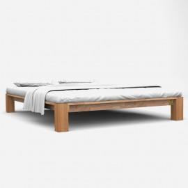 Estructura de cama de madera maciza de roble 140x200 cm