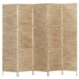 Biombo divisor 5 paneles jacinto de agua 193x160 cm