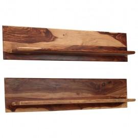 Estantes de pared 2 uds. 118x26x20 cm madera maciza de sheesham