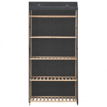 Armario de tela gris 79x40x170 cm