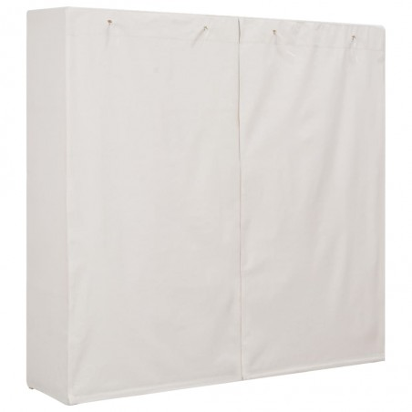 Armario de tela blanco 173x40x170 cm