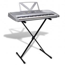 Piano eléctrico de 61 teclas con atril y soporte ajustable