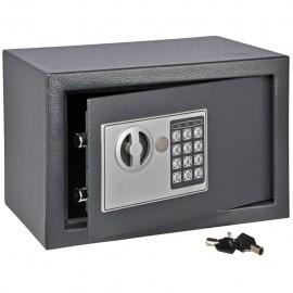 HI Caja fuerte con cierre eléctrico gris 31x20x20 cm