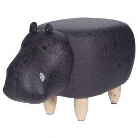 Home&ampStyling Taburete con forma de hipopótamo 64x35 cm