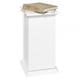 FMD Mesita decorativa con puerta blanco 57,4 cm
