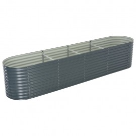 Jardinera de acero galvanizado 400x80x81 cm gris