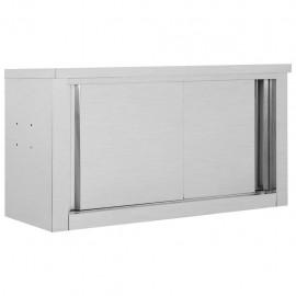 Armario pared de cocina puertas correderas acero 90x40x50 cm