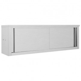 Armario pared de cocina puertas correderas acero 150x40x50 cm