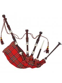 Gaita escocesa Great Highlands color tartán real rojo